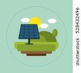 solar panel landscape sun cloud | Shutterstock .eps vector #528432496