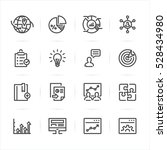 seo and development icons with... | Shutterstock .eps vector #528434980