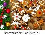 christmas composition  ... | Shutterstock . vector #528439150