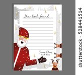 beautiful letter from santa... | Shutterstock .eps vector #528441514