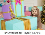 child standing among blue ... | Shutterstock . vector #528442798