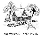 Winter Landscape With House ...