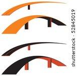 vector bridge   Shutterstock .eps vector #52845019