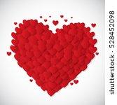 valentine's day heart symbol.... | Shutterstock .eps vector #528452098