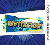 banner with the word invitation   Shutterstock .eps vector #528452149
