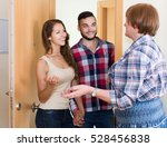 smiling adult couple  came to... | Shutterstock . vector #528456838
