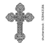 beautiful ornate cross. sketch... | Shutterstock .eps vector #528463186