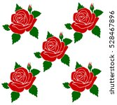 silhouette of roses in a...   Shutterstock .eps vector #528467896