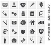 medical icons set | Shutterstock .eps vector #528468190