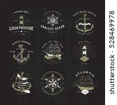 set of invert vintage nautical... | Shutterstock .eps vector #528469978