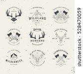 wildlife hunters  hipster logo... | Shutterstock .eps vector #528470059