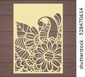 die cut card. laser cut vector... | Shutterstock .eps vector #528470614