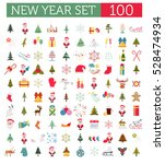 christmas  new year holidays... | Shutterstock .eps vector #528474934