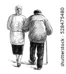 old couple on a walk | Shutterstock . vector #528475480