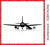 plane and passenger icon vector ... | Shutterstock .eps vector #528476356