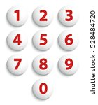 set of vector numbers  from 1... | Shutterstock .eps vector #528484720
