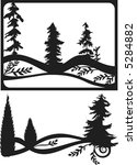 pine tree frame | Shutterstock .eps vector #5284882