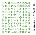 100 ecology   nature green... | Shutterstock .eps vector #528492118