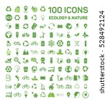100 ecology   nature green... | Shutterstock .eps vector #528492124