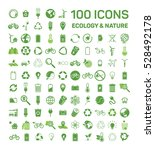 100 ecology   nature green... | Shutterstock .eps vector #528492178