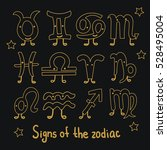 set signs of the zodiac.... | Shutterstock .eps vector #528495004