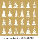vector set of christmas tree