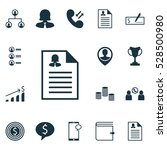 set of 16 hr icons. can be used ... | Shutterstock .eps vector #528500980