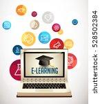 it communication   e learning   ... | Shutterstock .eps vector #528502384