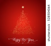 happy new year stylized shining ... | Shutterstock .eps vector #528504064
