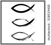 christian fish symbol. vector | Shutterstock .eps vector #528519400