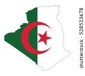 flag map of algeria | Shutterstock .eps vector #528523678