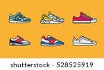 sneaker shoe minimal color flat ... | Shutterstock .eps vector #528525919