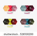 set of abstract option... | Shutterstock .eps vector #528530200
