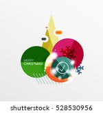 christmas sale stickers with... | Shutterstock .eps vector #528530956