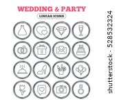 wedding and party icons. dress  ... | Shutterstock . vector #528532324