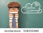 online learning funny education ... | Shutterstock . vector #528533380