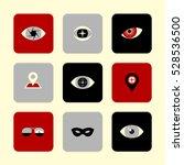 vector flat icons set   eyes...   Shutterstock .eps vector #528536500
