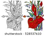 bouquet of flowers coloring...