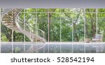 spiral stair in the glass house ... | Shutterstock . vector #528542194