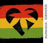 marijuana silhouette in heart... | Shutterstock . vector #528543520
