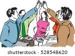 business team work people... | Shutterstock .eps vector #528548620