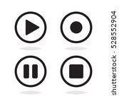 play icon set vector | Shutterstock .eps vector #528552904
