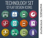 flat style icons set for mobile ...