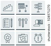 set of 9 project management...   Shutterstock .eps vector #528571270