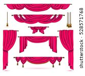 luxury red curtains. a... | Shutterstock .eps vector #528571768
