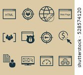 set of 12 marketing icons. can...