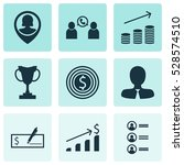 set of 9 human resources icons. ...