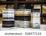 Stock photo kitchen countertops samples of granite marble and quartz 528577123