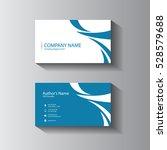 vector design blue minimal... | Shutterstock .eps vector #528579688