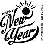 happy new year  | Shutterstock .eps vector #528584419